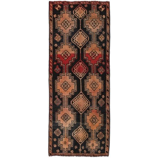 "Vintage Shiraz Wool Area Rug - 3'4"" X 8'10"""