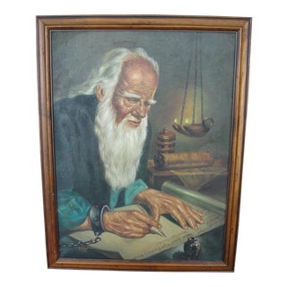 Scholar Oil Painting By G. Loyola