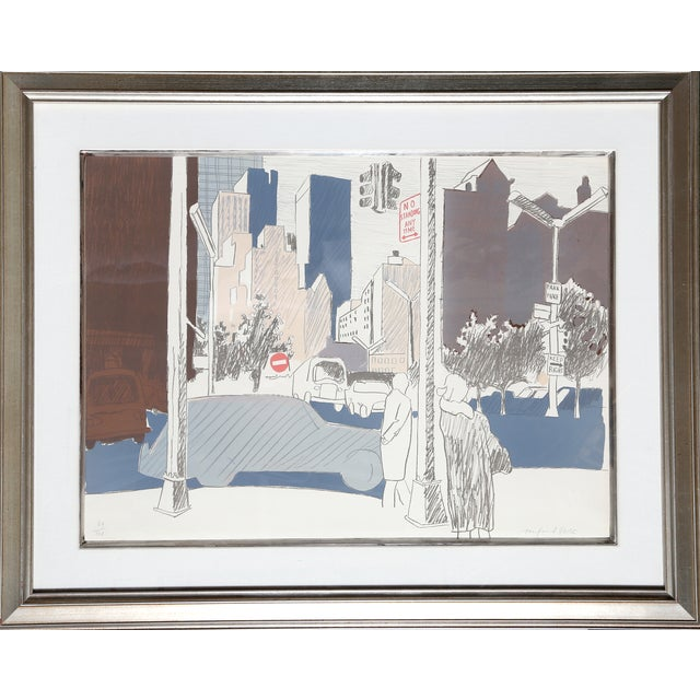 """""""NYC"""" Lithograph by Fairfield Porter - Image 1 of 2"""