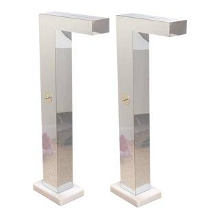Pair of Neal Small Sculptural Floor Lamps