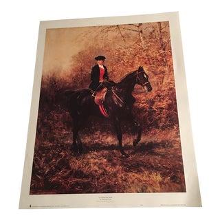 """Vintage Haywood Hardy """"Girl Riding Side Saddle"""" Print"""