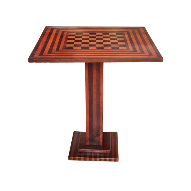 Checkered Tilt Top Table - Image 1 of 7