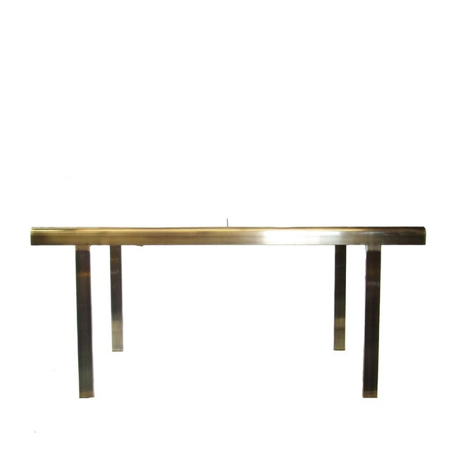 Antique Brass & Glass Extendable Dining Table - Image 2 of 5