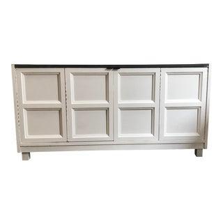 Modern White Low Sideboard Cabinet
