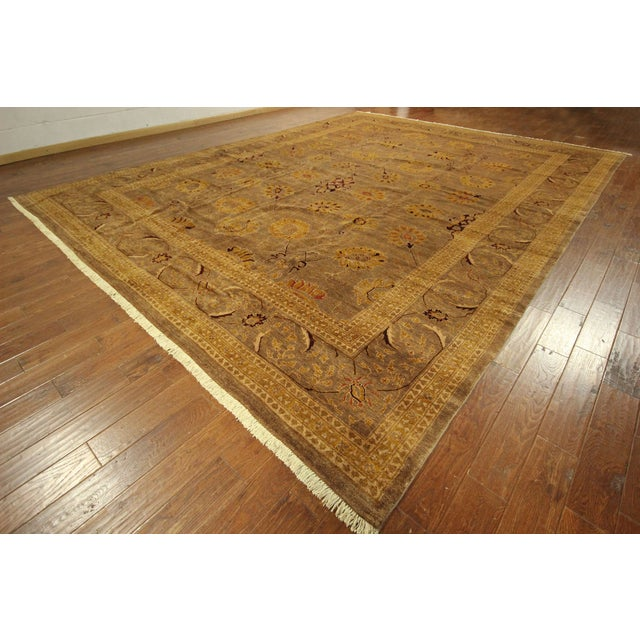 """Oushak Collection Brown Rug - 12'1"""" x 15'10"""" - Image 2 of 10"""