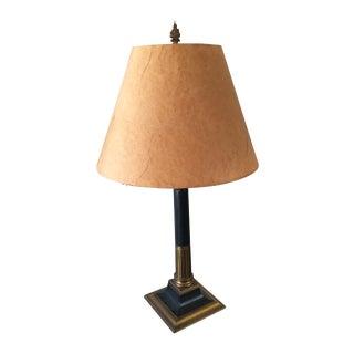 Vintage Column Lamp & Parchment Shade