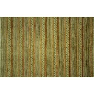 "Striped Gabbeh Kashkuli Rug - 5'10"" x 9'1"""