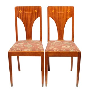 1930s Art Deco Jugend Chairs - A Pair