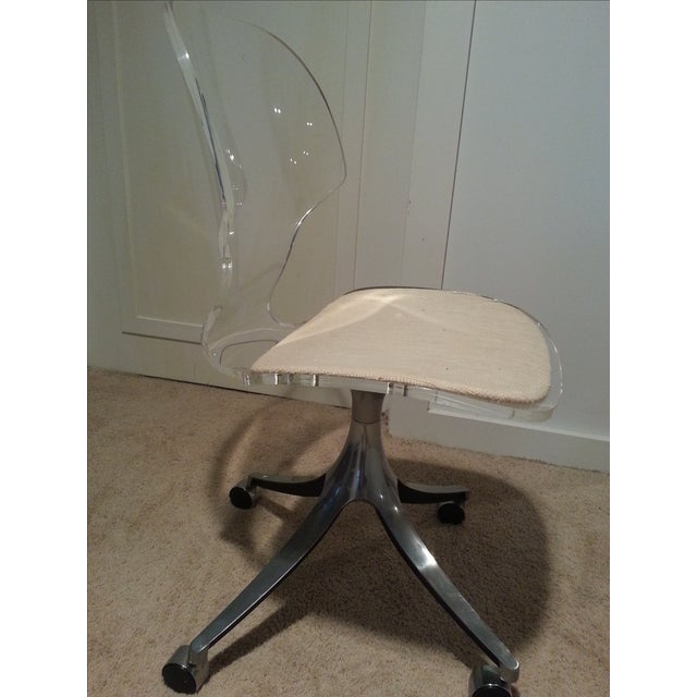 Mid-Century Lucite Desk Chair - Image 3 of 5