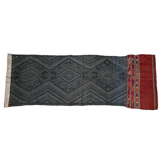 Image of Indigo Dyed Tribal Laotian Textile