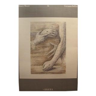 1975 Henry Moore Italian Exhibition Poster