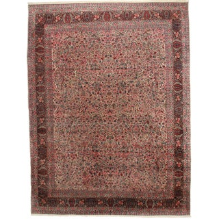 Hand-Knotted Persian Kerman Rug - 11′2″ × 14′6″