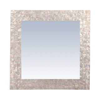 Capanna Square Capiz Wall Mirror