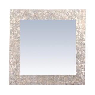 Capanna Square Capiz Wall Mirror