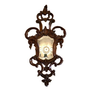 Ralph Lauren Wood Carved Antique Mirror