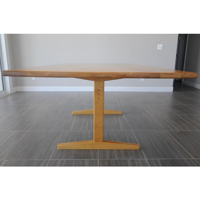 Solid Beech Trestle Table - Image 4 of 9