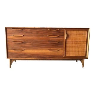 Mid Century Walnut Refinished Dresser Credenza by Lawrence Peabody for Richardson