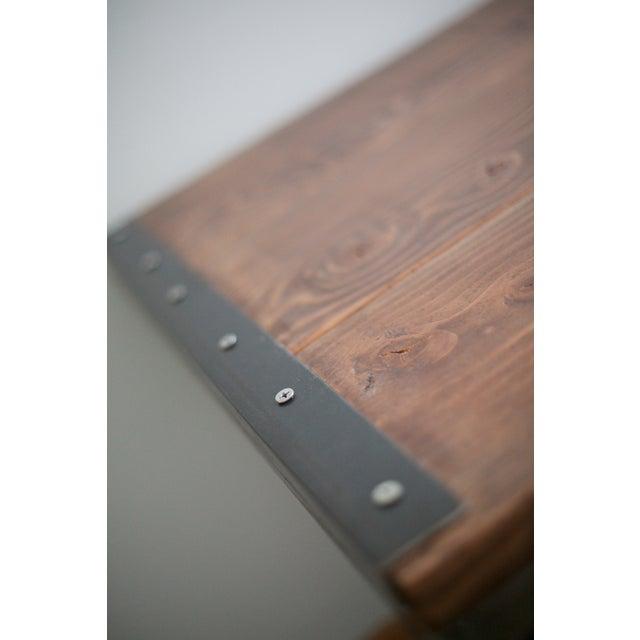 Solid Wood Industrial Desk - Image 7 of 8