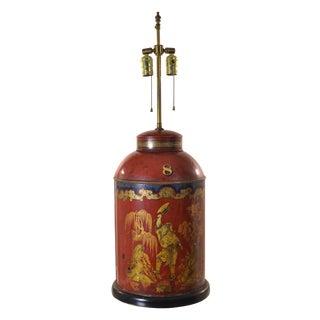 Antique Tole Tea Canister Lamp
