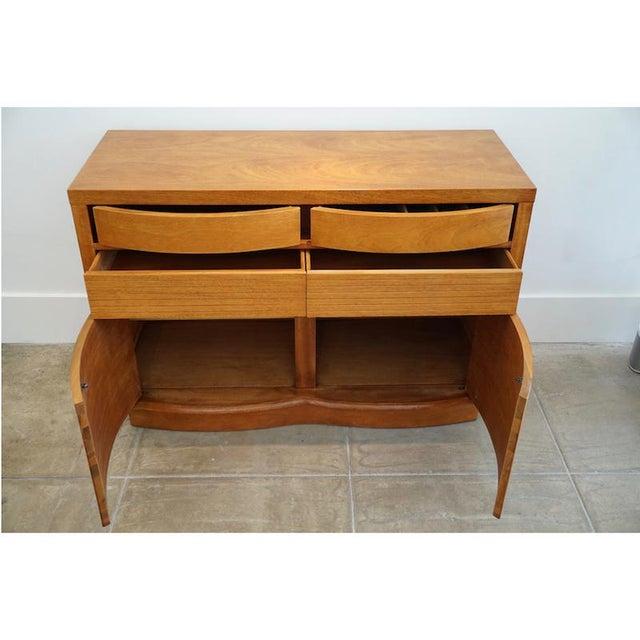 Teak Bow Front Cabinet - Image 5 of 7