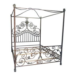 California King Four-Post Iron Canopy Bed