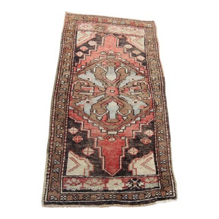 "Vintage Turkish Oushak Tribal Rug- 1'9"" x 3'5"""