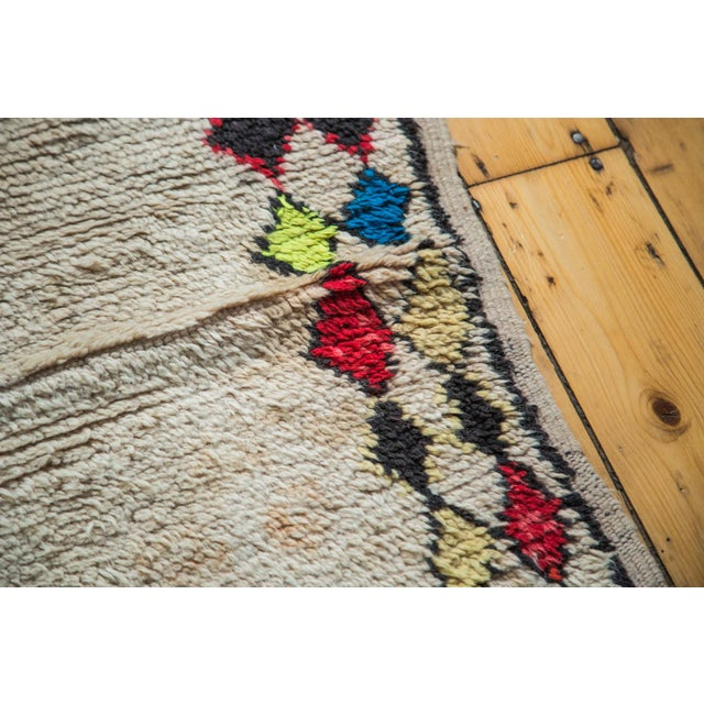 """Vintage Colorful Moroccan Rug - 4'2"""" x 7'3"""" - Image 3 of 5"""