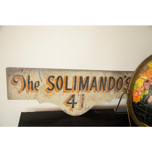 Vintage Deco Double Sided House Sign Solimando's - Image 7 of 7
