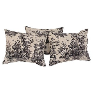 French Country Toile Pillows - Set of 3