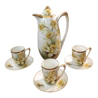 German Porcelain Chocolate Pot Set