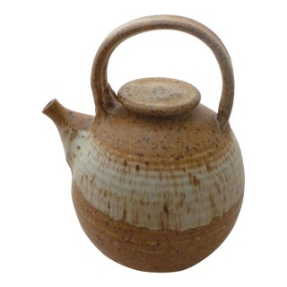 Mid Century Organic Studio Pottery Tea Pot