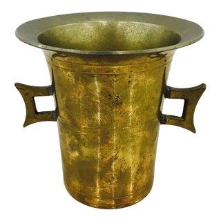 Vintage Indian Brass Mortar Cup