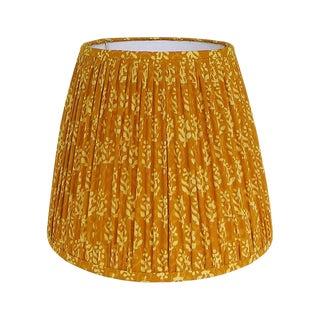 Small Mustard Yellow Indian Block Print Gathered Lamp Shade