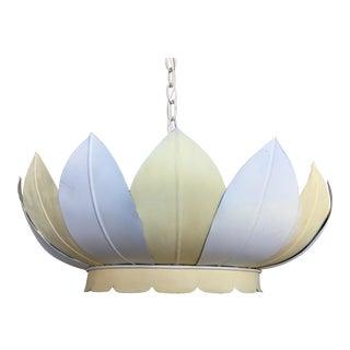 Vintage Striped Lotus Pendant Light