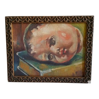 Doll Head Oil Painting