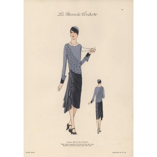1920s Art Deco French Fashion Print