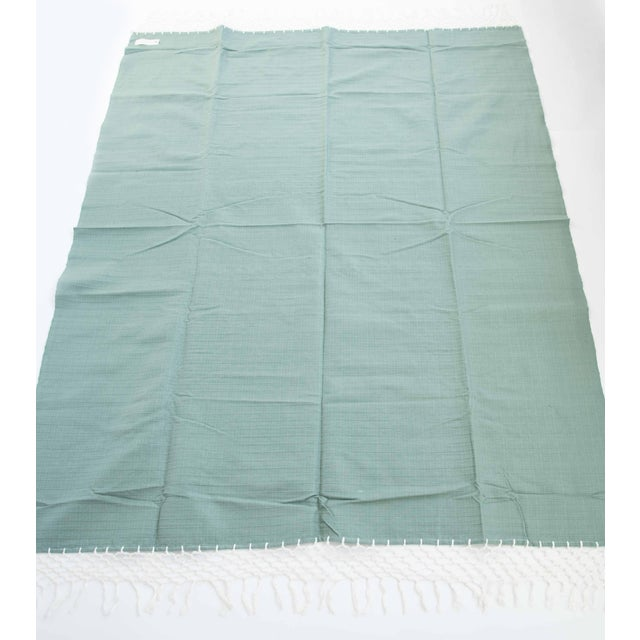 Sage Green Mexican Throw - Image 4 of 5