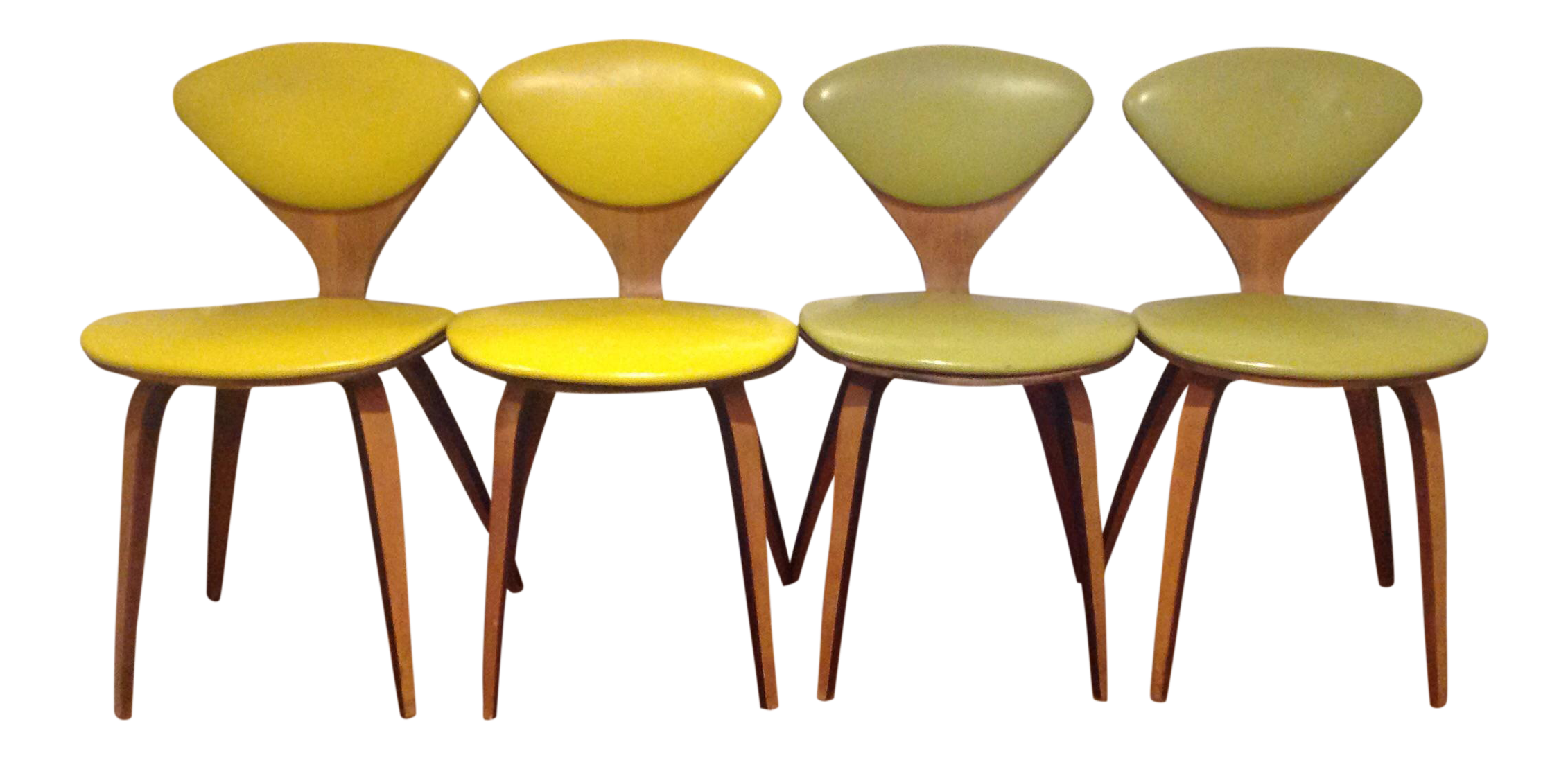 norman cherner for plycraft dining chairs set of 4
