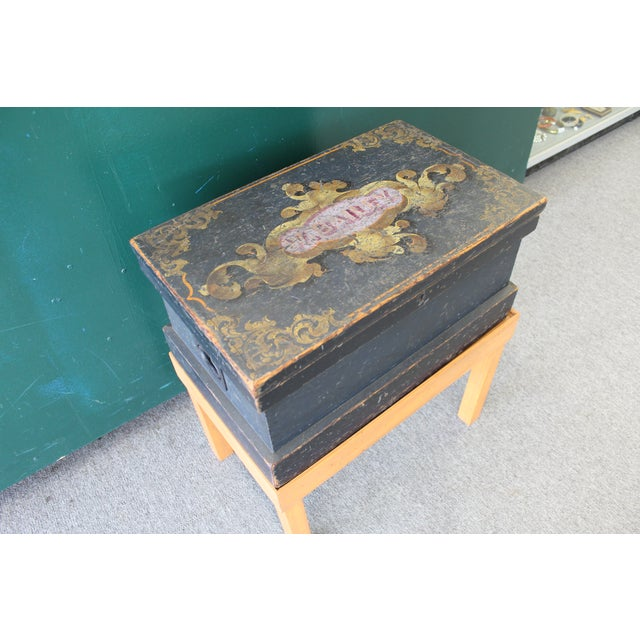 Antique Painted Craftsmen Tool Chest on Stand - Image 6 of 11