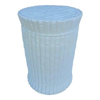 Italian Faux Bamboo Ceramic Stool .