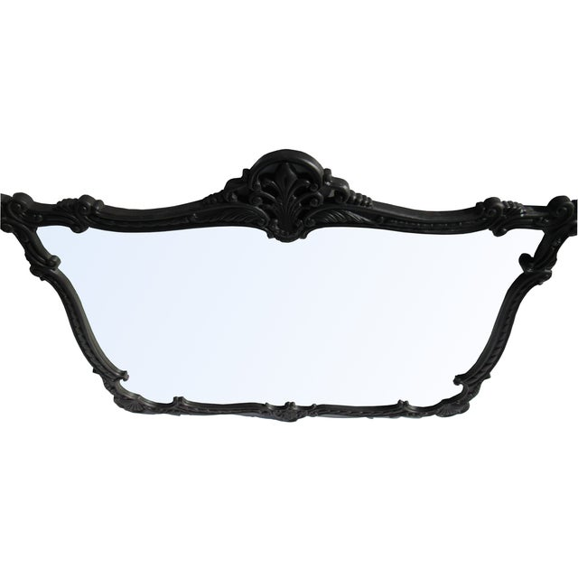 French Provincial Large Black Mirror - Image 3 of 8
