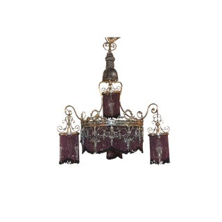 Antique Continental Silvered Chandelier