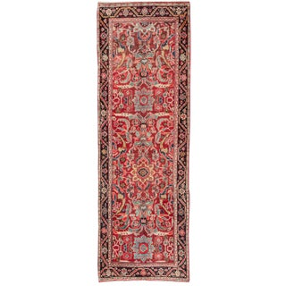 "Vintage Persian Mahal Rug - 3'5"" x 10'5"""