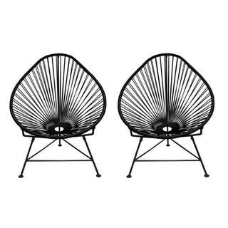 Black Innit Acapulco Chairs - A Pair