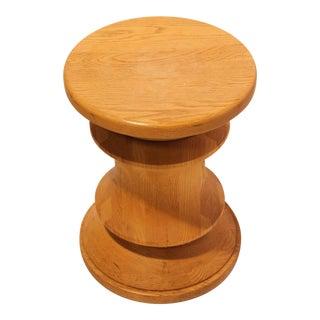 Midcentury Wood Stool or Side Table