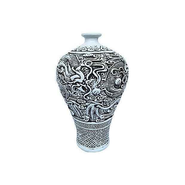 Image of Chinese Sculpted Dragon Vase