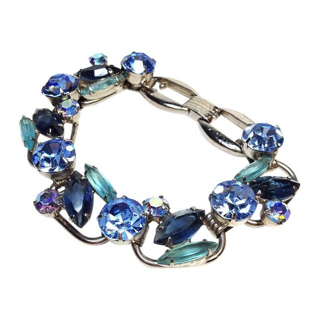 Image of Juliana Blue Rhinestone Bracelet