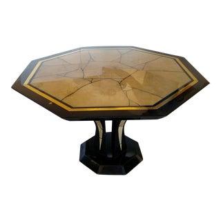 Vintage 1970s Italian Black Lacquer Table