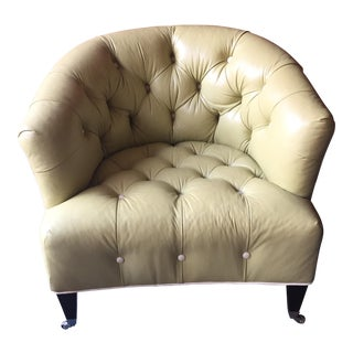 Grace Home Tufted Leather Club Chair