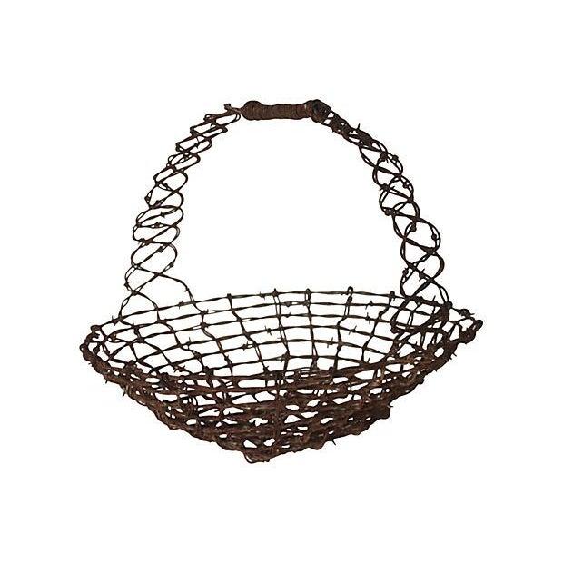Image of Barbed Wire Folk Art Basket